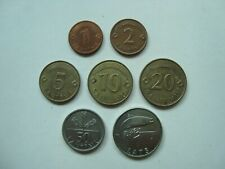 Lot Latvia Lettland 1,2,5,10,20,50 santimu, 1 lati 2008-2009 coins (7 pcs)