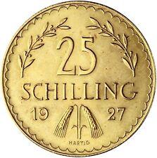 Österreich 25 Schilling geprägt 1926 bis 1934 Erste Republik Gold in Münzkapsel