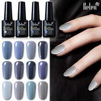 Belen UV LED Soak Off Color Gel Nail Polish Beauty Gray Range Base Top Coat 10ml
