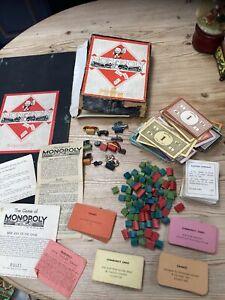 Vintage 1930'40's Monopoly. John Waddington. Board Game. MR11870