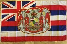 HAWAII KINGDOM OFFICIAL FLAG CROWN KANAKA MAOLI HAWAIIAN ROYAL USA 3X5 COLLECTOR