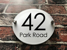 Custom DIY Sign Circle Modern House Sign Plaque Acrylic Number Name