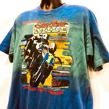Rare Vintage Tie Dye 40th Running 90s San Jose Dirtbike Racing Mile T Shirt XL