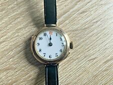 VINTAGE 9CT GOLD LADIES COCKTAIL WATCH WITH RED 12