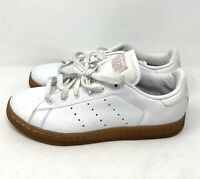 Adidas Originals Stan Smith White Pink Sneakers Shoes womens Size 5.5 EUC