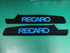 FOCUS MK3 RS Seat Plates Satin Black With Nitrous Blue RECARO