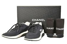 CHANEL Black Nylon Lace Up Cruise 2019 Sneakers Size 6 inch - G00238