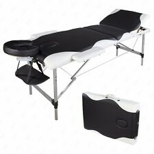 "84""L Portable Aluminum 3 Fold Massage Table Facial SPA Bed Tattoo W/Carry Case"