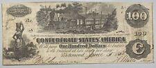 1862 $100 Confederate States of America
