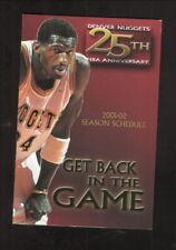 Denver Nuggets--Antonio McDyess--2001-02 Pocket Schedule--AllSport/Lipton