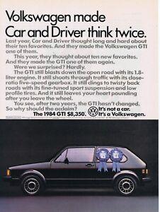 1984 Advertisement - VOLKSWAGEN GTI