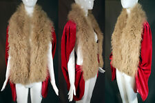 Vtg Paridaens Frères Brussels Art Deco Pink Velvet Fur Flapper Opera Coat Cape