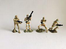 """Star Wars Orange Clone Trooper Mini Figurine Lot Commander Cody 2"""" Tall 2005"""