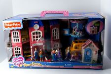 2003 Fisher Price Sweet Streets School Bus Playhouse Carousel Gift Set #676748