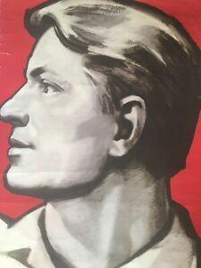 Vintage Original soviet poster 1970's USSR Soviet Man Triptych