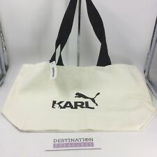 PUMA X Karl Lagerfeld Suede 50 Sneaker Collection Canvas Tote Bag GWP