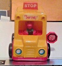 Push and Go Barney School Bus Rare