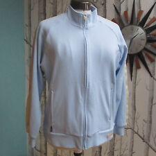 Adidas Climalite Tracksuit Top Jacket Sky Blue Orange Yellow Women's Size UK 10
