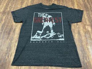 """Muhammad Ali """"The Greatest"""" Men's Gray T-Shirt - Medium"""