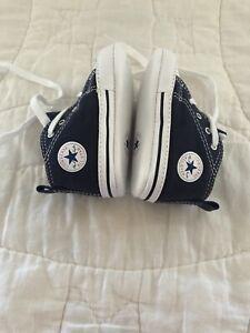 Converse Chuck Taylor All Star Prewalker Booties 88865 Blue Canvas Size 3