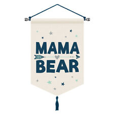 Baby Shower Bear-ly Wait Deluxe Canvas Sign ~ Party Supplies Hanging Decoration