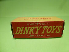 DINKY TOYS 231 BOX for MASERATI RACING CAR -  F1 1:43 - ONLY BOX