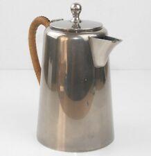 Metawa Pewter Coffee Pot Bamboo Handle Tiel Holland Vintage Retro Classic Design
