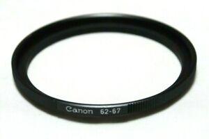 Canon Genuine Original Step Up Ring 62-67mm Lens Filter Adapter Japan jc111