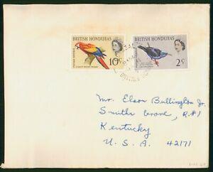 Mayfairstamps British Honduras to Kentucky USA Bird Combo Cover wwp_76265