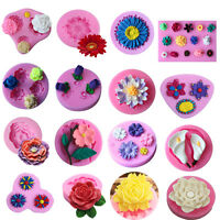 3D Flower Silicone Fondant Mold Candy Cake Chocolate Decorating Baking Mould