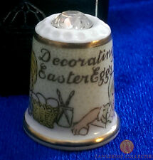 Decorating Easter Eggs Boxed Thimble With Crystal - Sutherland China