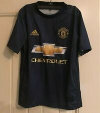 NWT adidas Youth Manchester United Soccer Futbol Jersey - Navy - Sz SMALL - $70