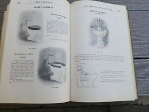Vintage 1912 Plumbing Catalog Urinal Shower Sink Water closet Hydrant Toilet