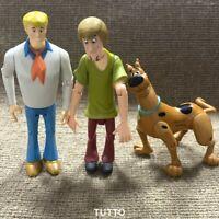 "3x 4.5"" SCOOBY-DOO Classic Shaggy & Shaggy Dog Fred Hanna Barbera Movies Figure"