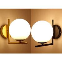 Modern LED/ E27 Wall Lamp Glass Light Shade Fixtures Indoor Office Bedroom Decor