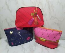 60 x ESTEE LAUDER ASSORTED BLUE RED PINK MAKEUP COSMETIC TRAVEL BAGS 9*6*2 INC