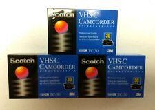 3 Scotch 3M VHS-C TC-30 Cassette Tapes SP30 EP90