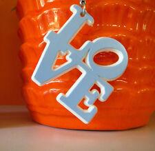 VTG 1970s Retro Robert Indiana MOD L-O-V-E Love Groovy Plastic Keychain Key Ring