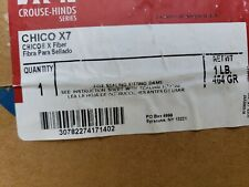 Crouse-Hinds CHICO-X7 Conduit Sealing Mineral Wool Fiber 1lb, New in Box