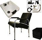 White Ceramic Shampoo Bowl Sink Reclining Chair Barber Beauty Salon Equipment