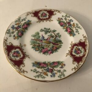 """Broadway Red Foley 6"""" Tea Plate"""