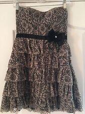 Women's Junior Nordstrom Lace Ruffle Sweetheart Mini-Dress Size Small Retail 189