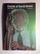 Events Of David Bowie Paperback Book By Hans Lelivett 85-86' Rock Discography