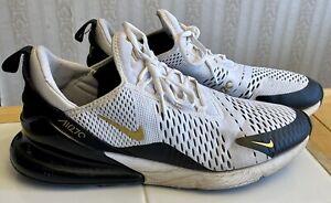 Nike Air Max 270 White/Metallic Gold/Black AV7892-100 Men's Size 12