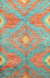 Thick Plush Modern Moroccan Berber Geometric Oriental Area Rug Wool Handmade 5x8