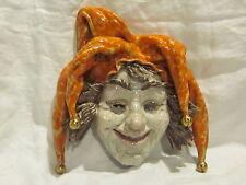 G Danti Jester Art Pottery Wall Hanging Mask