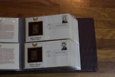 Presidents 22KT Gold Replica FDC 36 covers #2216-19 With book unaddressed