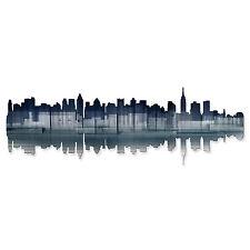 Ash Carl 'New York City Reflection' Metal Wall Art