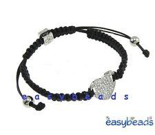 Shamballa bracelet charm coeur perle disco pave crystal bracelet