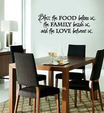 vinyl wall lettering/decal/sticker Bless The Food kitchen dining room quote